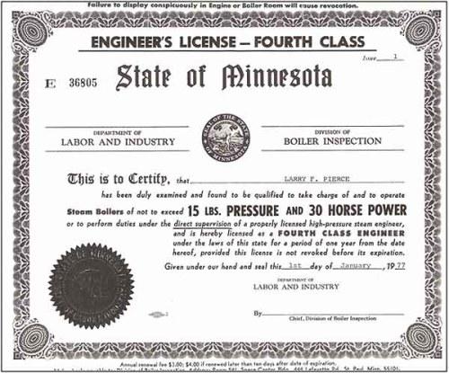 refrigeration machine operator license