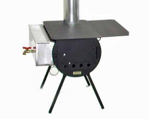 no elect cylindar stove w h20 heater