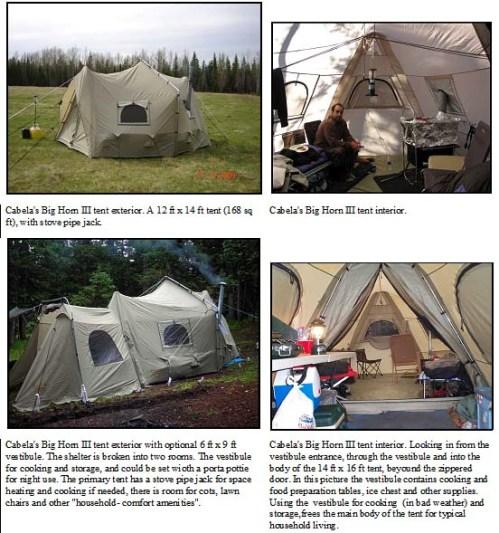 tent BH III close up