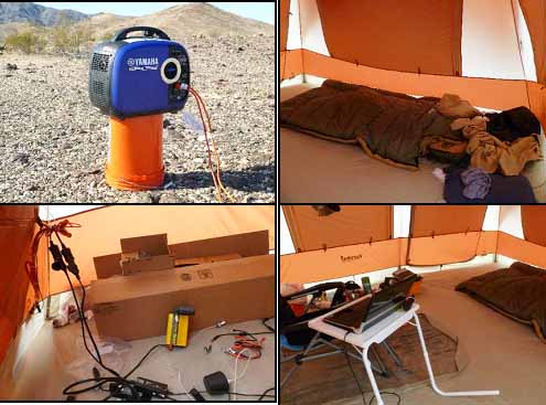 tent2 interior power & inverter