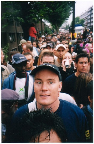 cash person in crowd