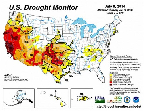 drought 2014 map