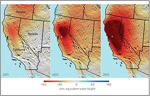 CA dry map