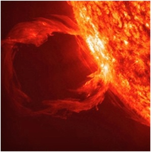 cooling solar flare