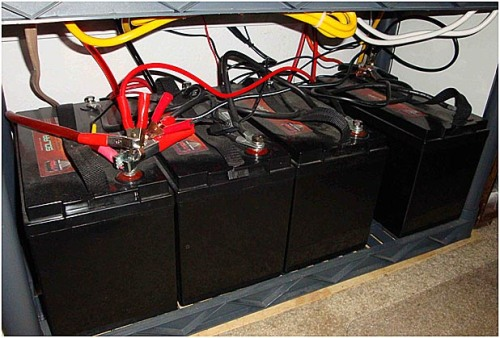 with electric 500 Ahr battery bank